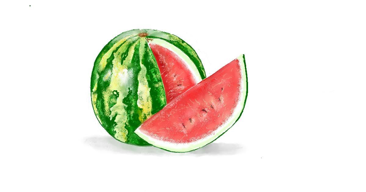 Watermelon drawing by GJP