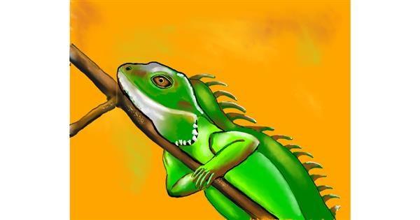 Lizard drawing by Cec