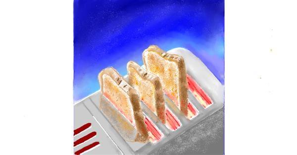 Bread drawing by GJP
