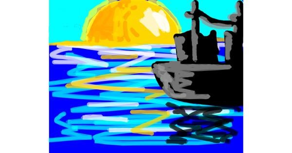 Sailboat drawing by :))