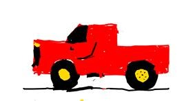 Truck drawing by Maddie