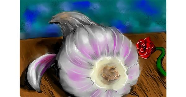 garlic drawing by 🌹🖌𝑅oses-𝕽-𝑅ed