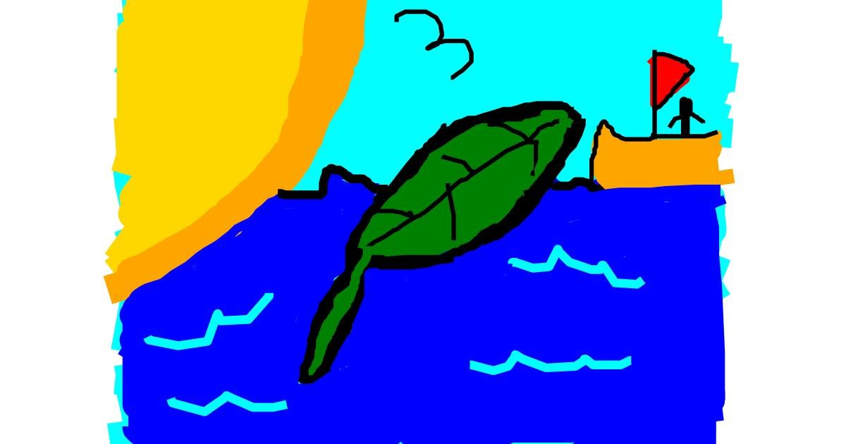 Drawing of Leaf by Anonymous