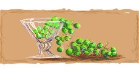 Grapes drawing by Paranoia