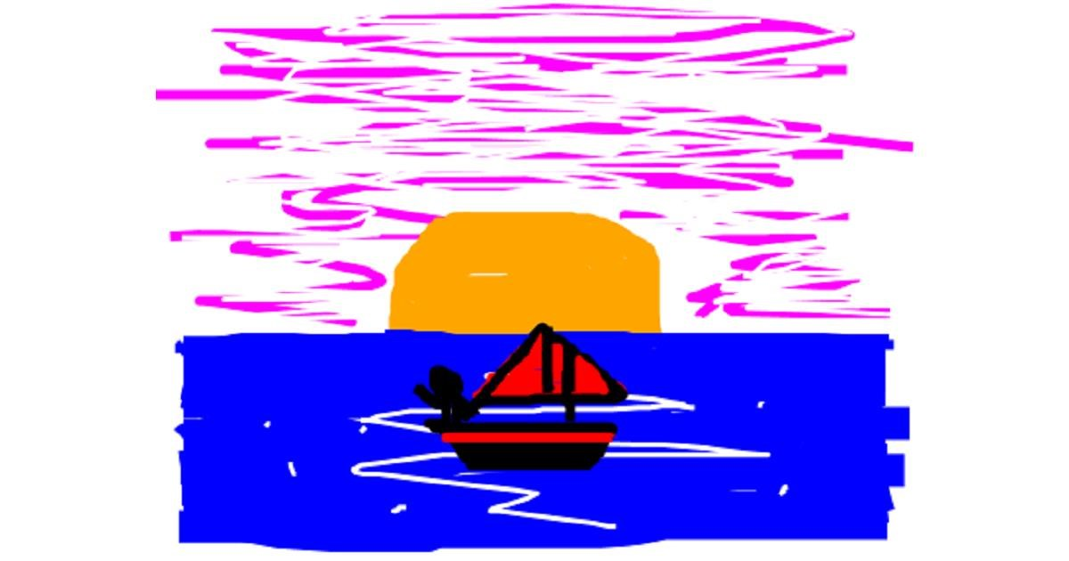 Boat drawing by SALADASS