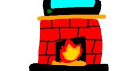 Fireplace drawing by Pokemon Rulez