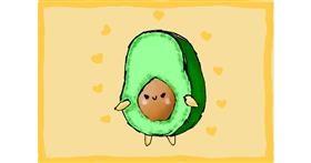 Avocado drawing by kelly