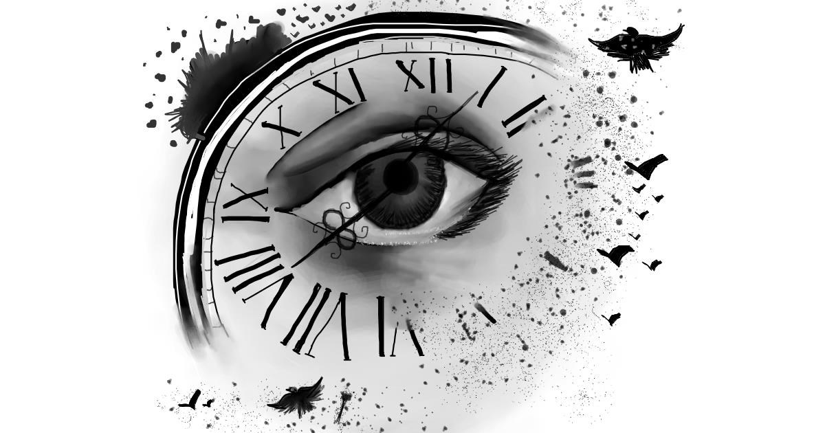 Alarm clock drawing by Mitzi