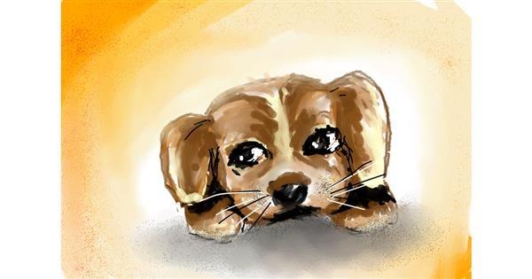 Dog drawing by Swastikaa