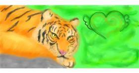 Tiger drawing by GABABUNDO