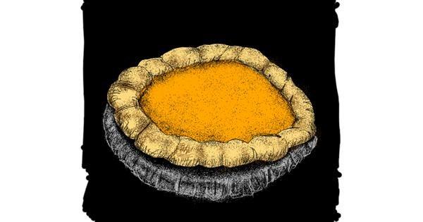 Pie drawing by Dettale