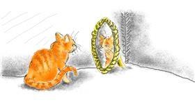 Mirror drawing by WindPhoenix