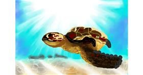 Sea turtle drawing by Sirak Fish