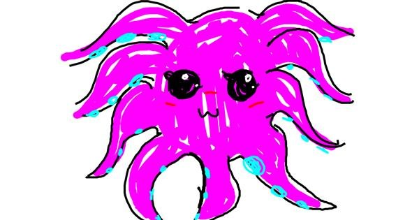 Octopus drawing by Pxstellar