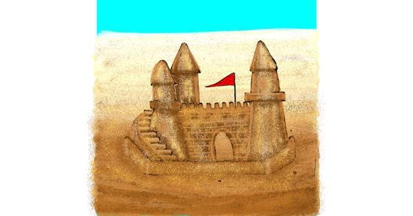 Sand castle drawing by SIREN