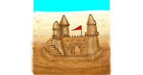 Drawing of Sand castle by SIREN