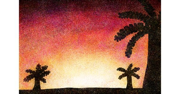 Sunset drawing by KitKat