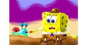 Spongebob drawing by Soaring Sunshine