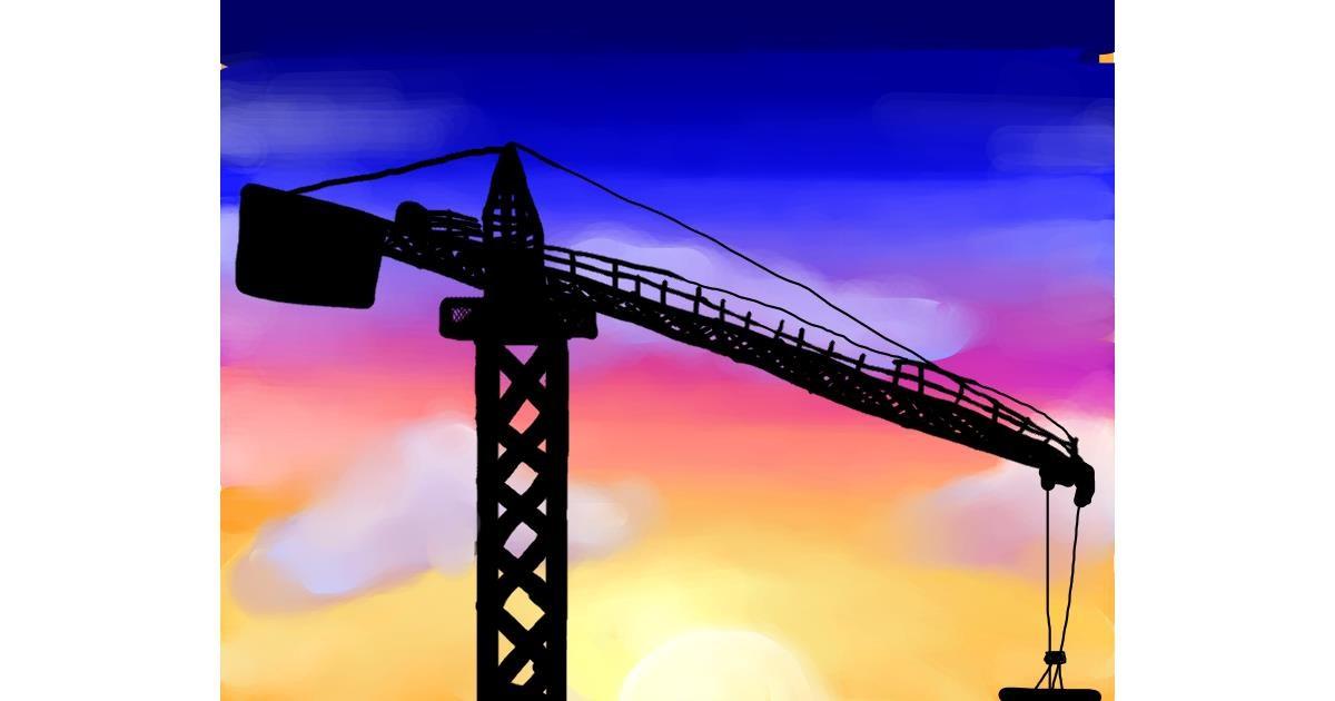 Drawing of Crane (machine) by Beagle❤️❤️