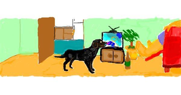 Dog drawing by 7y3e1l1l0o§
