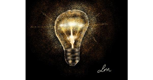 Light bulb drawing by Nonuvyrbiznis