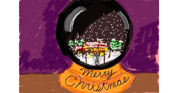 Snowglobe drawing by Nof9