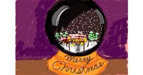Snow globe drawing by Nof9