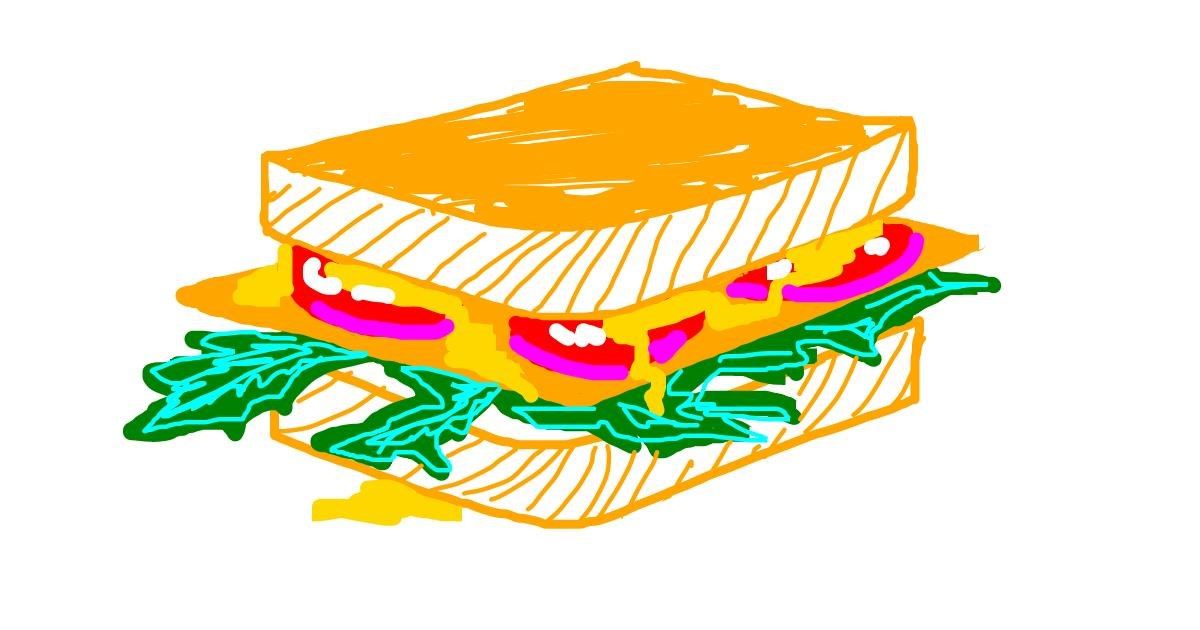 Sandwich drawing by Karsti