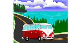 Drawing of Bus by Cec
