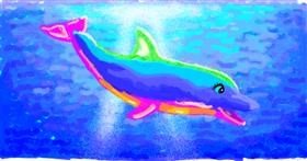 Dolphin drawing by Helena