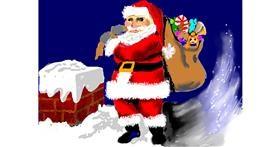 Santa Claus drawing by SAM 🙄