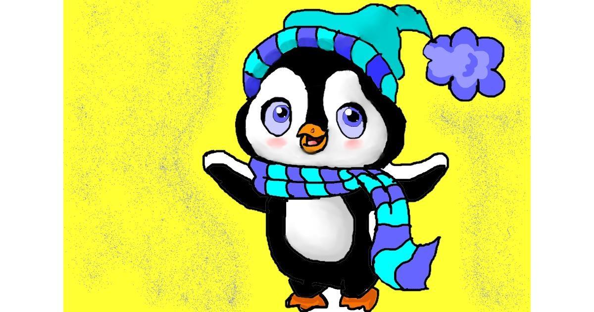 Penguin drawing by Noe