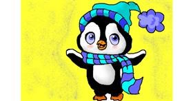 Penguin drawing by Noe