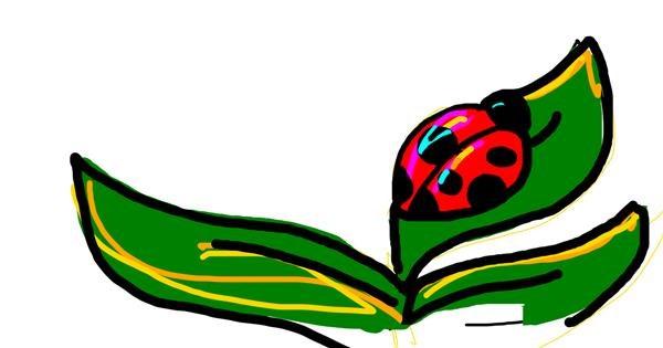 Ladybug drawing by Furrygamer69