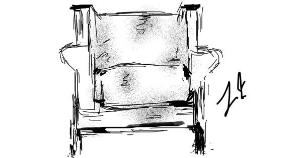 Chair drawing by Lori