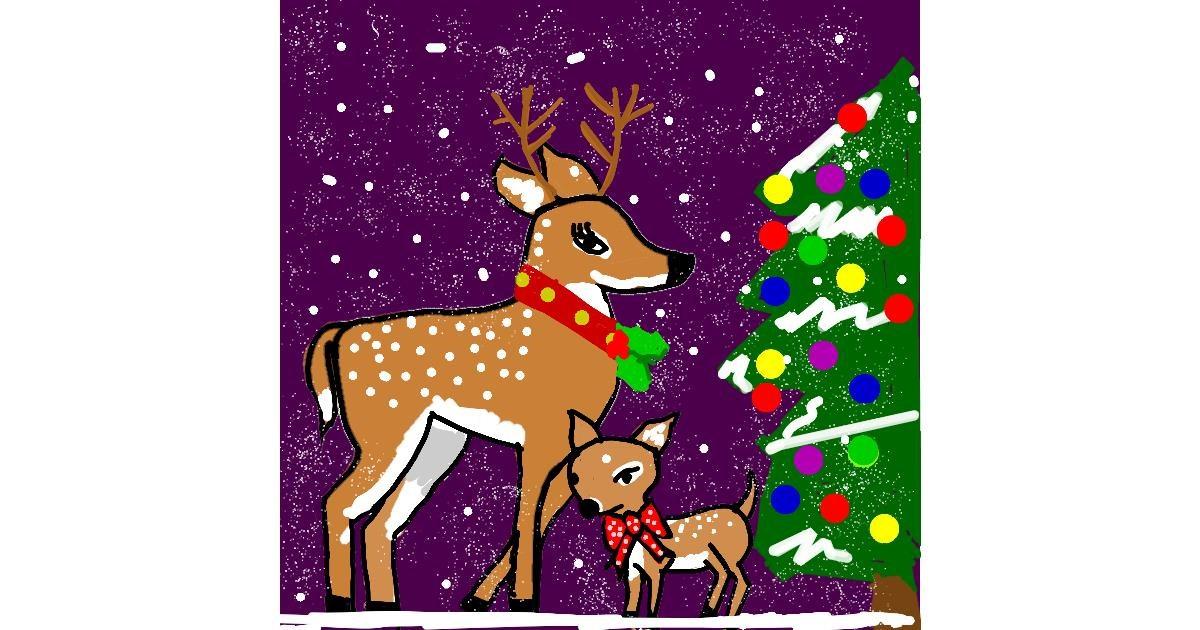 Drawing of Reindeer by MaRi