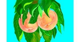 Peach drawing by GJP