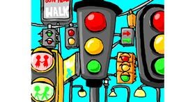 Drawing of Traffic light by Just_shin