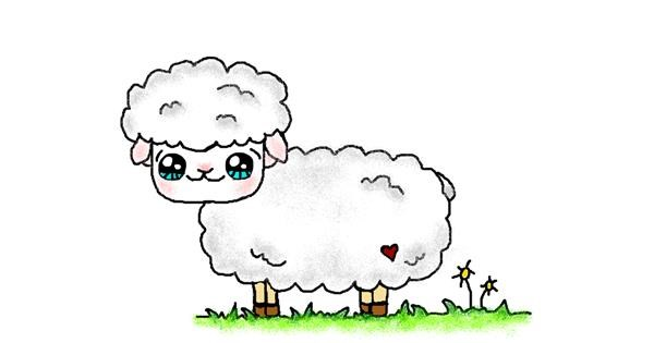 Sheep drawing by Tiny🍒