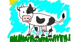 Drawing of Cow by Collins key