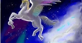 Drawing of Unicorn by Ryu