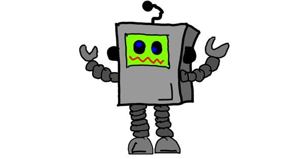 Robot drawing by Leni