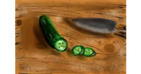Cucumber drawing by Soaring Sunshine