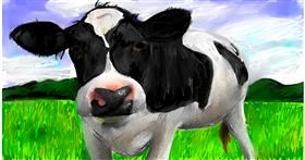 Drawing of Cow by Soaring Sunshine