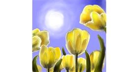 Drawing of Tulips by Leah