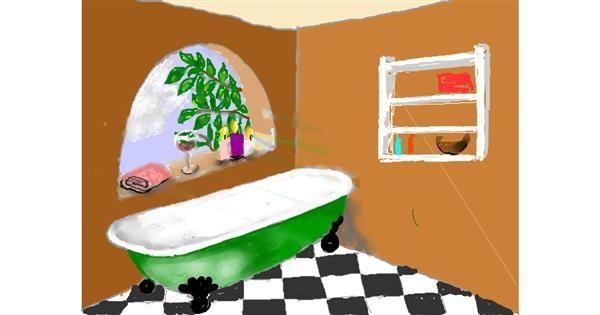 Bathtub drawing by SAM 🙄AKA Margaret