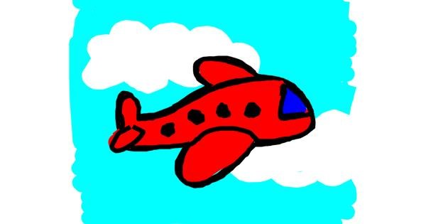 Airplane drawing by Kamie