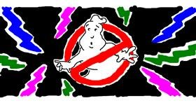 Ghost drawing by Lou