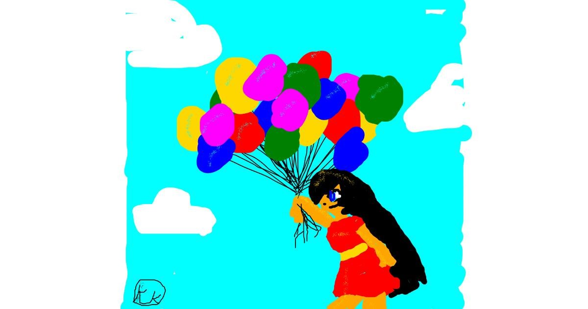 Drawing of Balloon by cookie karr