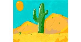 Cactus drawing by Accound124
